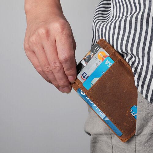 Front Pocket Wallet Leather RFID Blocking ID Slim Credit Card Holder Men/'s Gift