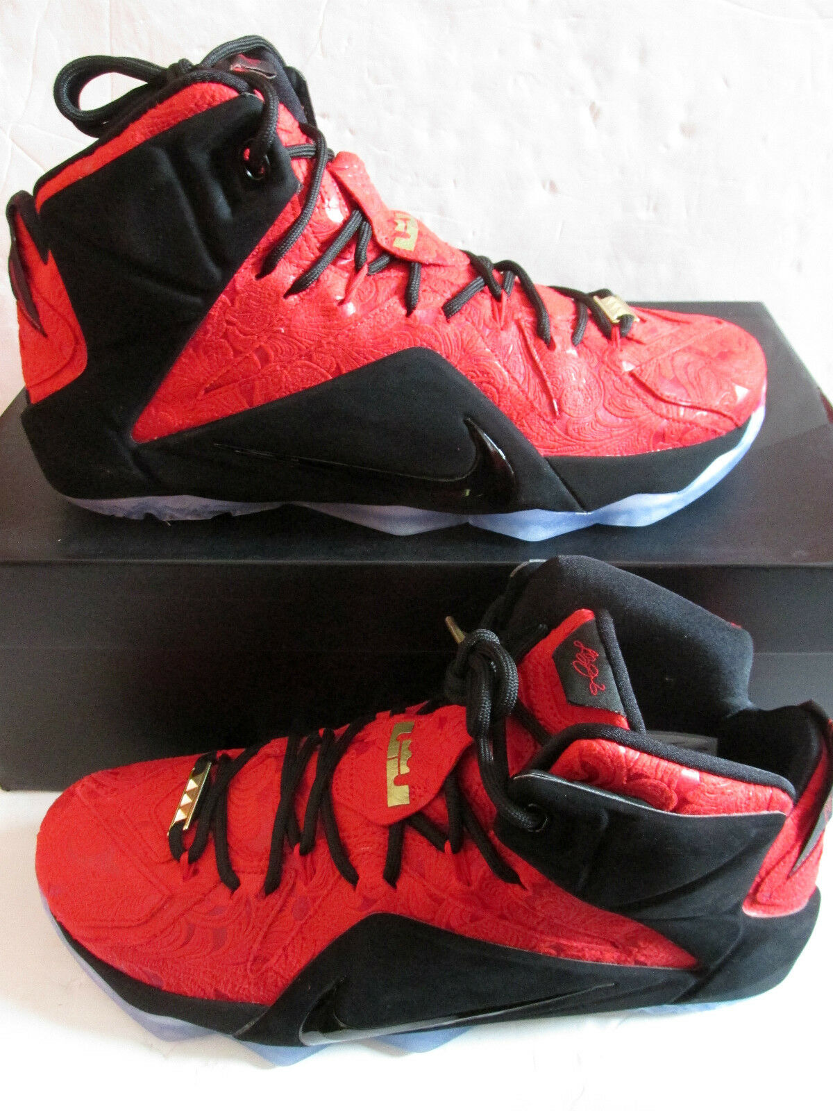 Nike lebron XII EXT mens hi top trainers 748861 600 sneakers shoes