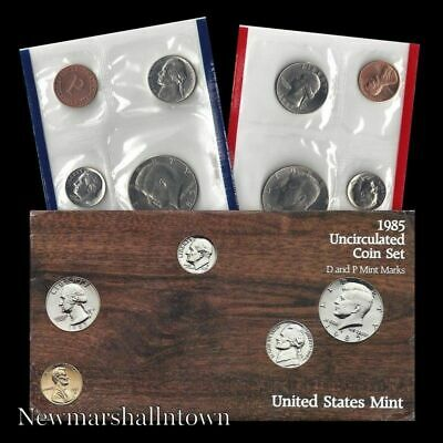 Mint Set 10 Coins P and D Mint Marks 1985 Uncirculated U.S