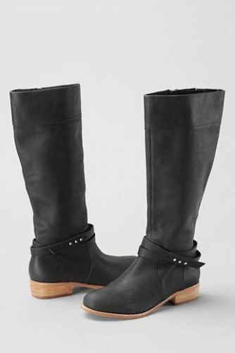 NWOB Lands End damen Blakely Leather Tall Tall Tall Zip Riding Stiefel Sz 11 Orig   249 68be8c