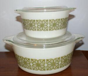 Vintage Pyrex 473 Lime Green 1 Quart Cinderella Casserole