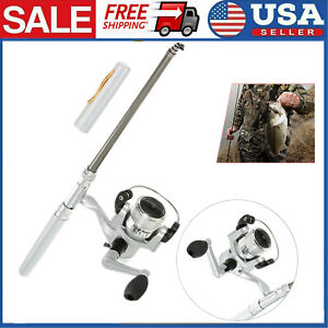 Telescopic-Mini-Pen-Rod-Pocket-Aluminum-Alloy-Pole-Portable-Fishing-Reel-N8H0