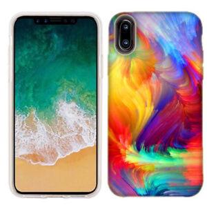 Para-Apple-iPhone-x-Feathered-Colores-Piel-Funda
