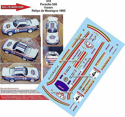 Dedito Decals 1/32 Ref 372 Porsche 911 930 Karam Rallye Montagne Liban 1985 Rally Eccellente (In) Qualità