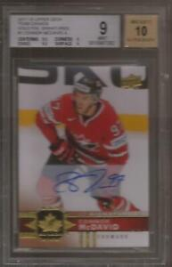 CONNOR-McDAVID-2017-18-UD-Team-Canada-Gold-Foil-Signatures-Auto-Graded-BGS-9-WOW