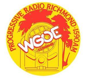 WGOE AM Radio Station Richmond Va. Musical Memorabilia New Vinyl Sticker