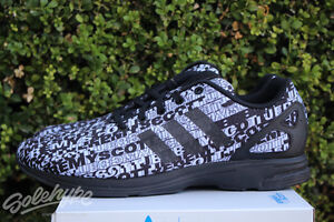 lowest price b5f60 8fea1 Image is loading ADIDAS-ORIGINALS-JS-ZX-FLUX-TECH-LOGO-SZ-