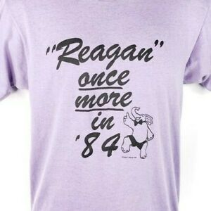 Ronald-Reagan-T-Shirt-Vintage-80s-Once-More-In-84-Election-Made-In-USA-Medium