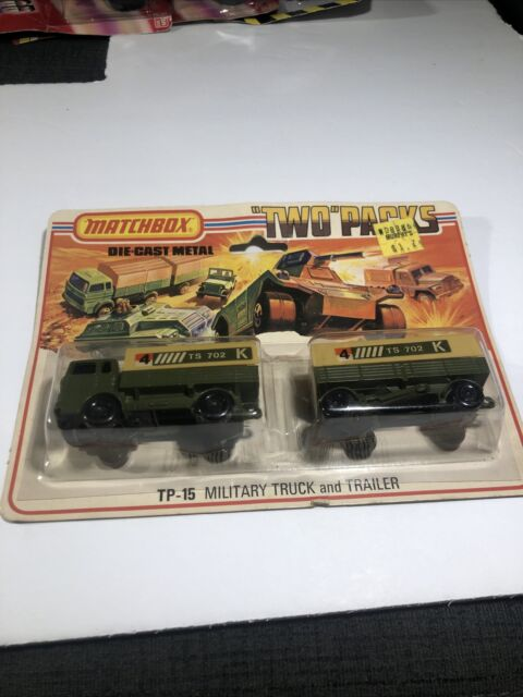 Matchbox Two Pack 1 Mercedes Truck and Trailer 1975