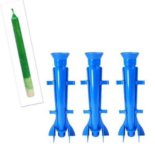 """UK Made S7574 Proops 3 X Long conique fusée en forme de bougie moules 9.5/"""" long"""