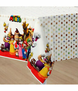Super-Mario-Party-Supplies-Table-Cover-Large-Tablecloth-Plastic-54-x-96-Inch