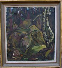 Rego Hultquist *1895 , Felsen in Waldlandschaft, um 1930/40