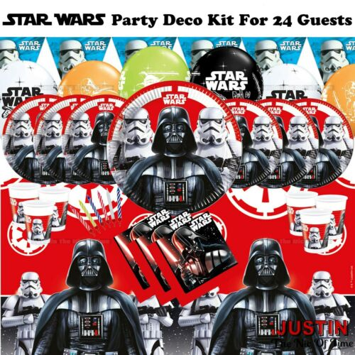 STAR WARS Birthday Party Supplies Boys Range Childrens Tableware /& Decorations