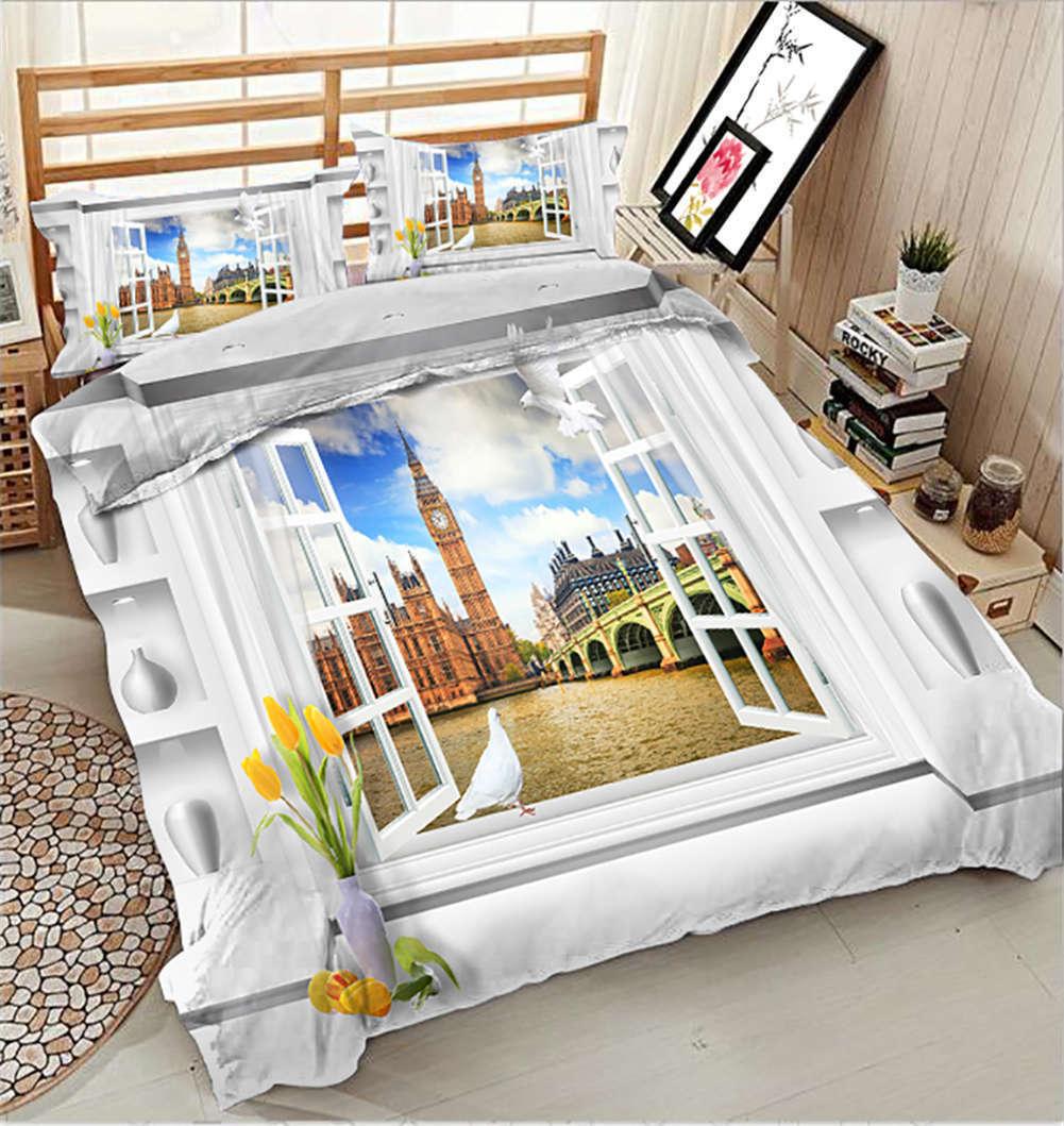 Salubrious City 3D Printing Duvet Quilt Doona Covers Pillow Case Bedding Sets