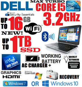 Details about 5 STARS - DELL LATITUDE I5 LAPTOP 🚩1TB SSD 🚩16GB RAM 🚩WIFI  🚩HDMI 🚩WIN 7 10