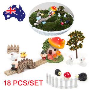 18Pcs-Miniature-Flower-Fairy-Dollhouse-Ornament-Home-Garden-Craft-Decor-AU-Stock