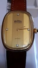 BUTEX GOLD PLATED LADIES QUARTZ WATCH * SWISS MADE
