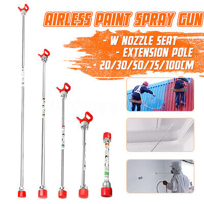 20//30//50//60//75cm Airless Paint Sprayer Gun Tip Extension Rod Pole Base