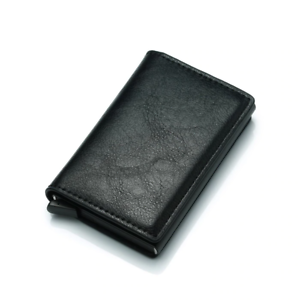 MEN-Women-PU-Leather-RFID-Blocking-Purse-Credit-Card-Holder-Money-Wallet-Clip