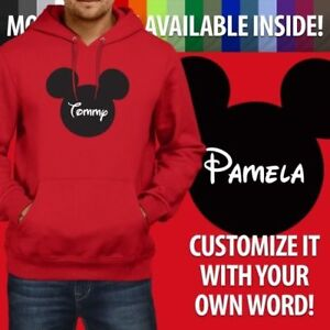 Image is loading Personalized-Custom-Your-Text-Mickey-Mouse-Pullover-Hoodie- 854ca4fd62350