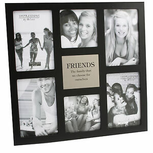Friends-Large-Black-Juliana-MDF-Collage-Multi-Photo-Frame-6-x-Pictures-Gift-Idea