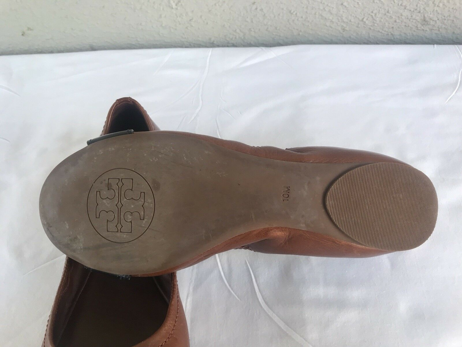 EUC! Tory Burch Noel US Size 10 Patent Ballet Ballerina Flat Brown Patent 10 Ballet Shoe B 77edc2