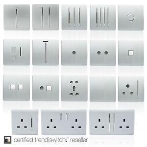 prise electrique interrupteur lumi re trendi moderne argent rocker ebay. Black Bedroom Furniture Sets. Home Design Ideas