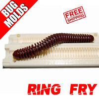 Fishing Lure Mold Soft Plastic Bait Mold DIY Ring Fry Worm Fishing molds