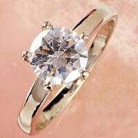Round Cut White Sapphire Gemstones Silver Ring Gift Size L N P R T V Y Z(1/2)