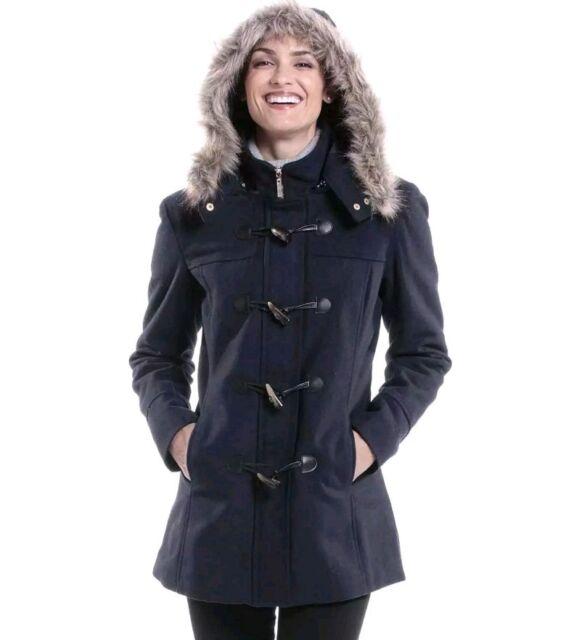 Womens Fur Trim Hooded Parka