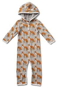 Jungen Milkbarn Organische Baumwolle Mit Kapuze Strampler Fox Kleinkinder Baby Ein BrüLlender Handel Strampler