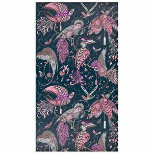 Animalia-Audubon-Papier-Peint-W0099-04-Rose-Metallise-Emma-J-Shipley
