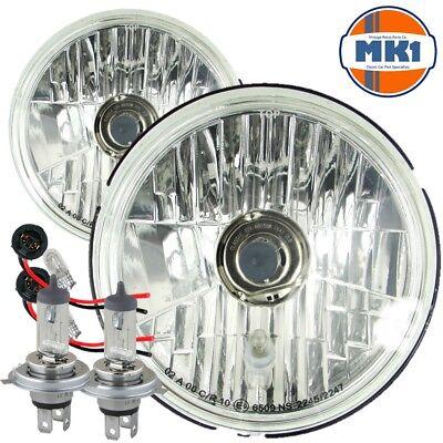 "Ford Capri MK1 5/&3//4/"" 3 Pin Halogen Conversion Headlights With Bulbs /& Sidelight"