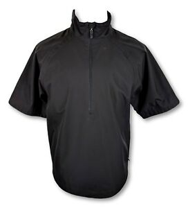 Cutter Buck Cb Weathertec Mens Small Black Short Sleeve Half