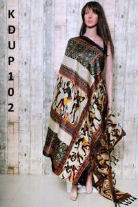 Women-Khadi-Silk-Dupatta-Traditional-Printed-Design-Fashion-Scarf-Wrap-Shawl
