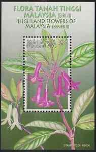 268M-MALAYSIA-2000-STAMP-WEEK-HIGHLAND-FLOWERS-MS-FRESH-MNH