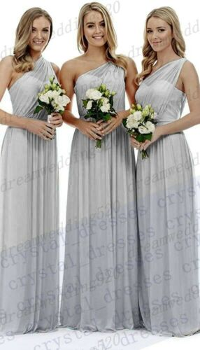 New Formal Long Chiffon Evening Party Ball Gown Prom Bridesmaid Dress Size 6-30
