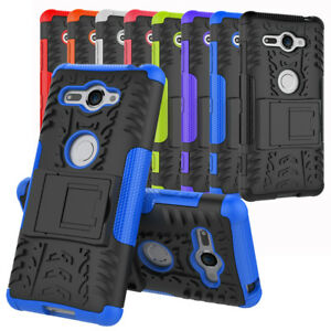 Pour-Sony-Xperia-XZ2-Compact-Robuste-Armure-Defenseur-Bequille-Coque-Rigide