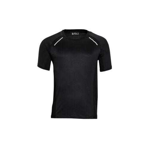 Sols Mens Sydney Reflective Running T Shirt Shorts Raglan Sleeves Sports Fitness
