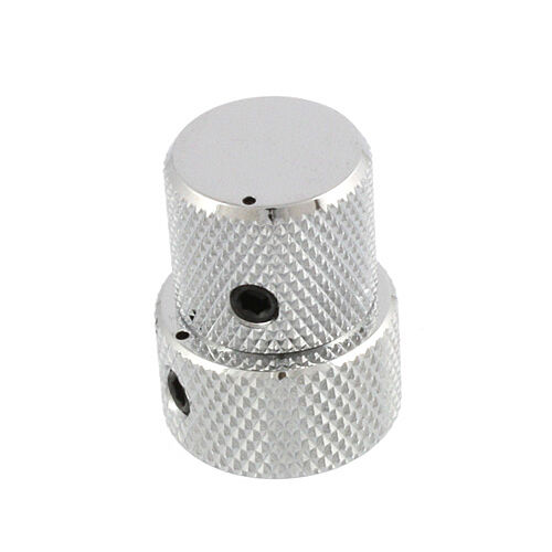 VK18T Mini Stacked Concentric Knob for 6mm//8mm Pots NEW Gotoh VK15T CHROME