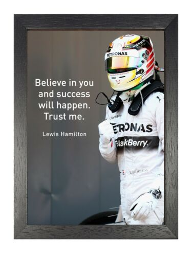 Lewis 22 Hamilton British Formula Poster One Racing Drive Success Sport Photo