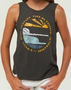 O-039-Neill-SURF-SETS-Girls-Youth-100-Cotton-Sleeveless-Tank-Top-Medium-Grey-NEW