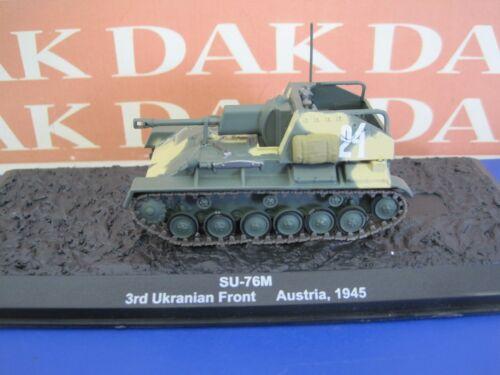 Die cast 1//72 Modellino Carro Armato Tank SU-76M 3rd Ukranian Front Austria 1945