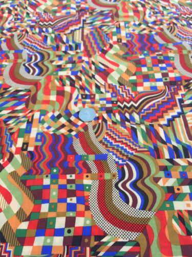 dress fabric John Lewis cotton 100/% mid blue, per metre /'Gustav Klimt/'