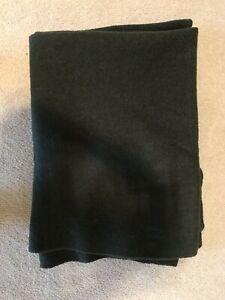 Genuine French Army Vintage 100/% Wool Hunter Green// Dark Green Blanket Heavy