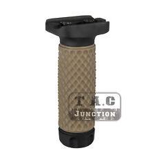 Tactical KeyMod GolfBall Pattern ForeGrip Aluminum w/ Rubber Vertical Grip Long