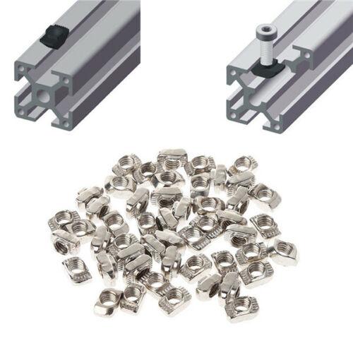 x20 Drop in T-Slot M5 Nut Fastener 2020 Aluminium Profile For 3D Printers