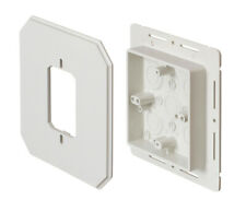 LOT OF 25 ARLINGTON 8081F SIDING ELECTRICAL BOX KIT COVER W//FLANGES WHITE