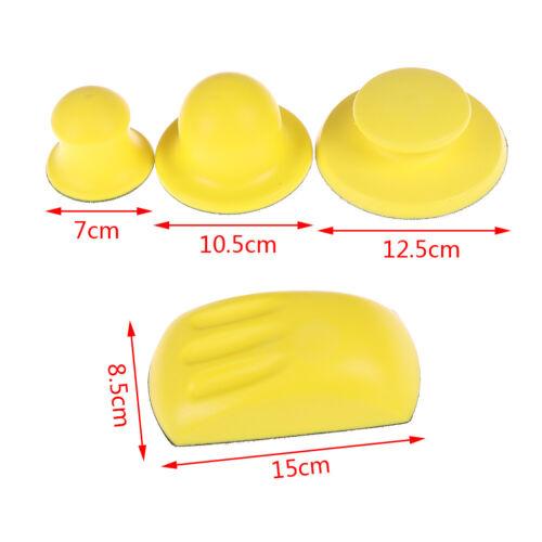 Sanding Disc Holder Sandpaper Backing Polishing Pad Hand Grinding Block Tool BH