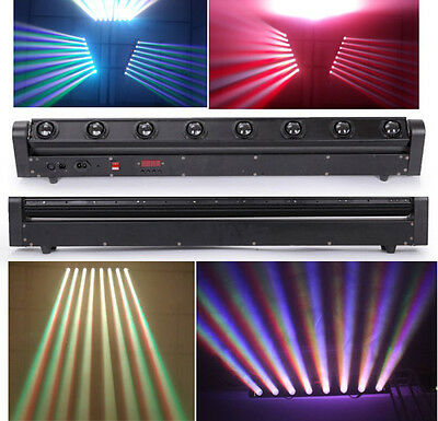 10W*8PCS 4IN1 RGBW Cree LED Moving Head Beam Bar Light Beam Light DMX stage Ligh